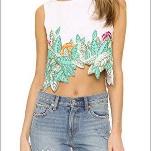 NWT Mara Hoffman embroidered crop top